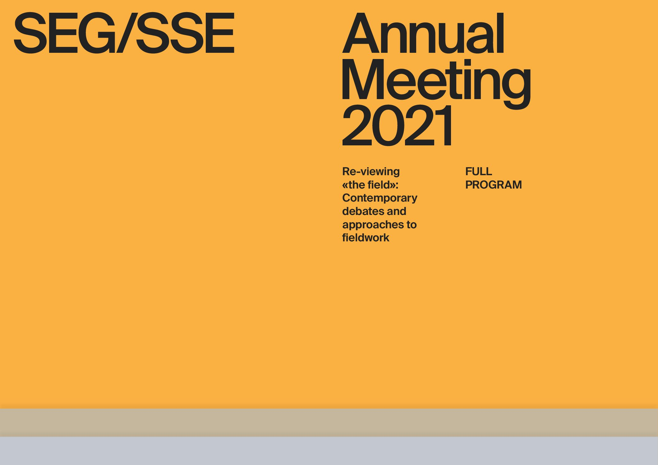 SEG/SSE Annual Meeting 2021